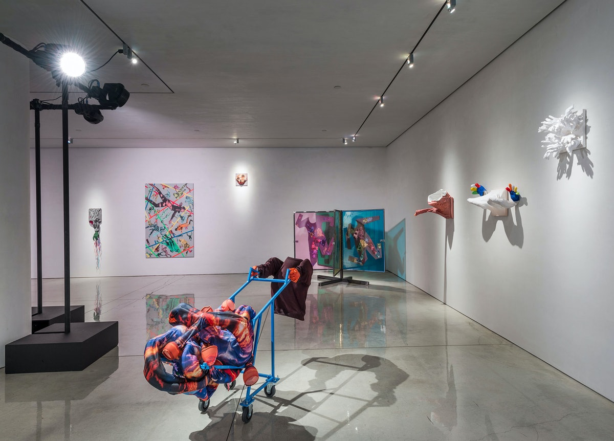 """Installation view of Ryan McNamara's """"Gently Used"""" at Mary Boone"""