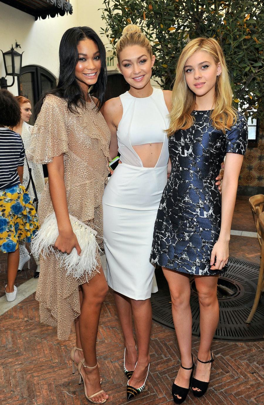 Chanel Iman, Gigi Hadid, and Nicola Peltz