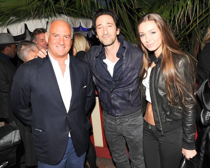 Charles Finch, Adrien Brody, and Lara Lieto