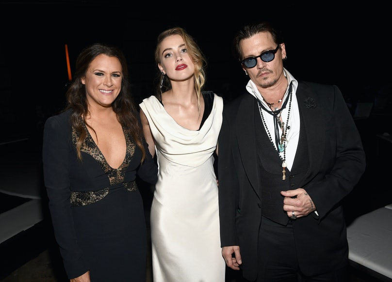 Founder of The Art of Elysium Jennifer Howell and actors Amber Heard and Johnny Depp