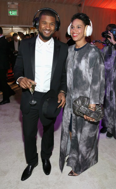 Usher and Grace Miguel attend the Art of Elysium's annual heaven Gala at Hangar 8