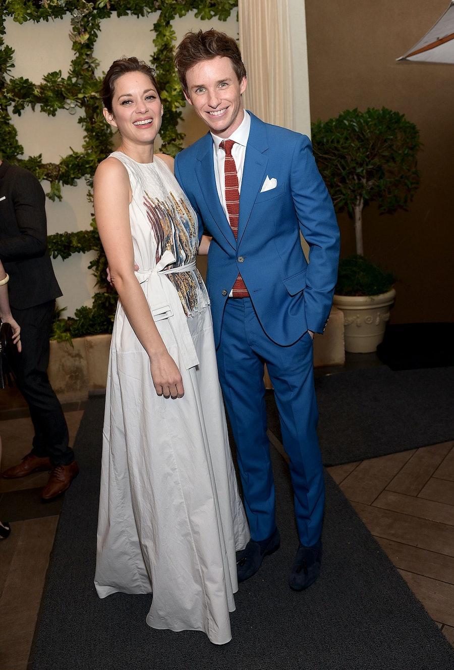 Marion Cotillard and Eddie Redmayne