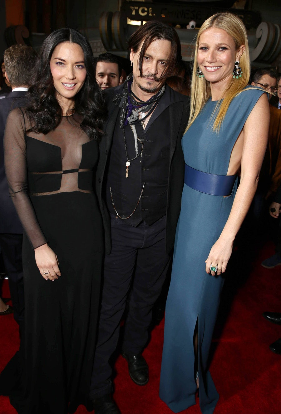 Olivia Munn, Johnny Depp, and Gwyneth Paltrow