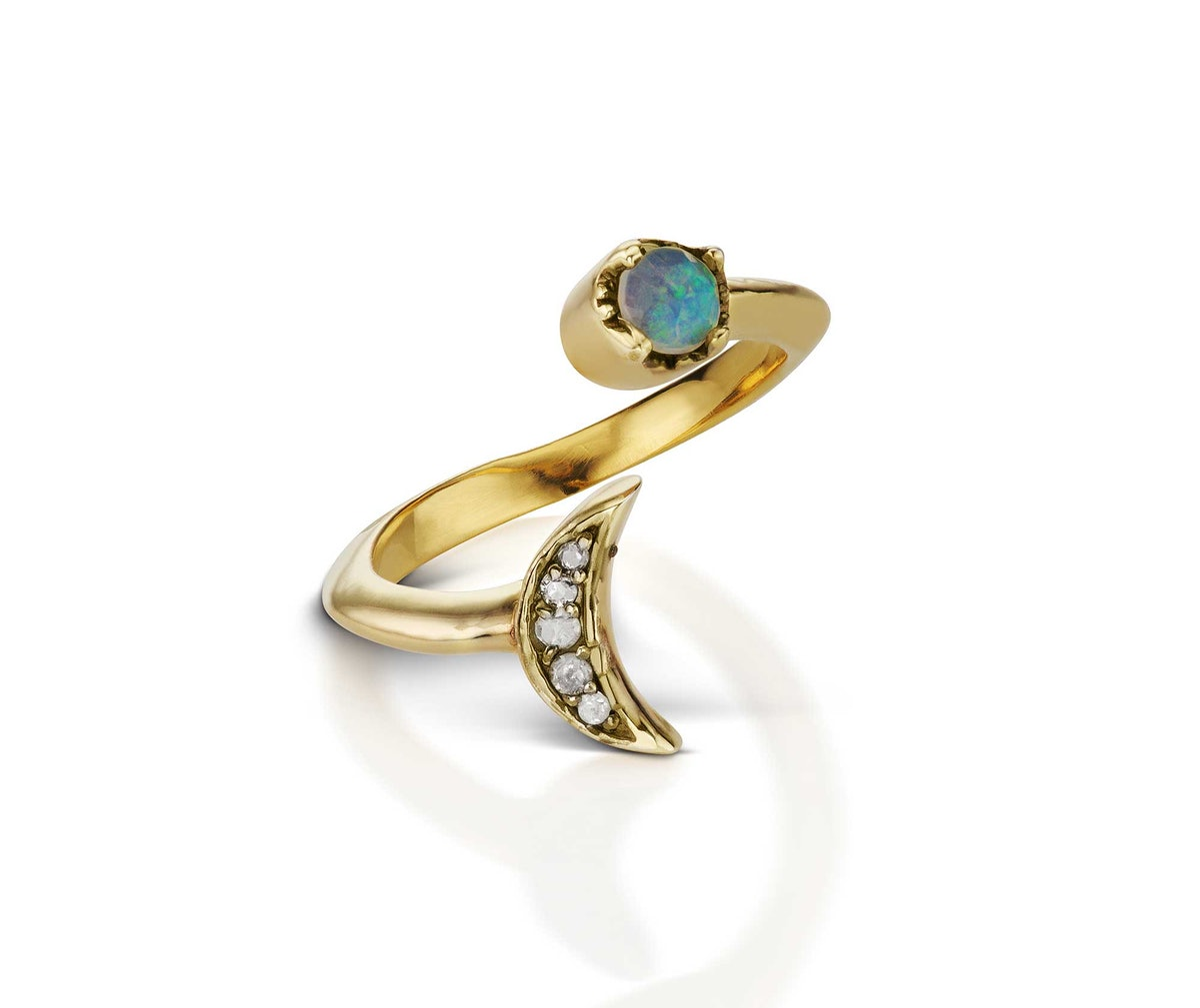 Mania Mania yellow gold and opal ring
