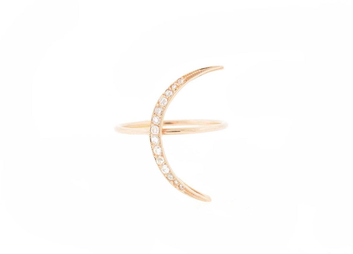 Andrea Fohrman 18k rose gold and diamond ring