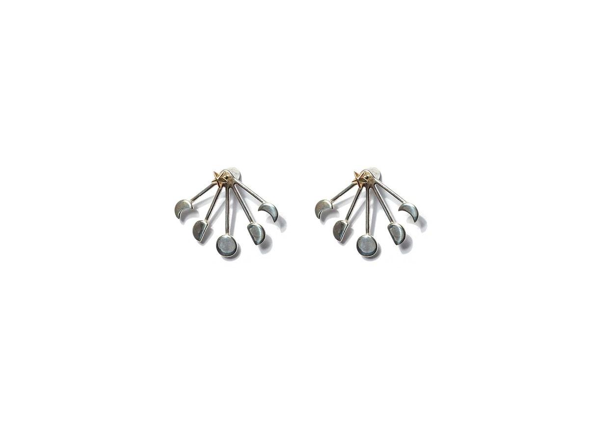 Pamela Love sterling silver and brass ear jacket