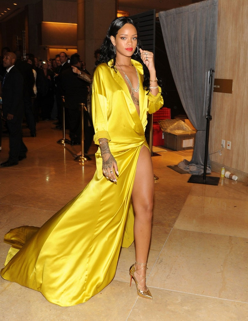 Rihanna in Alexandre Vauthier. Photo by WireImage.