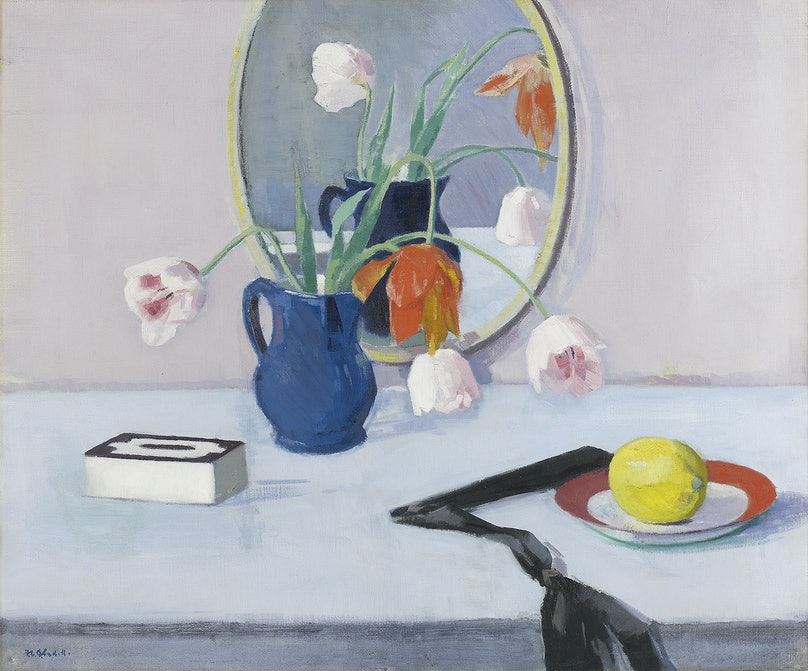 Francis Campbell Boileau Cadell's Still Life of Pink Tulips