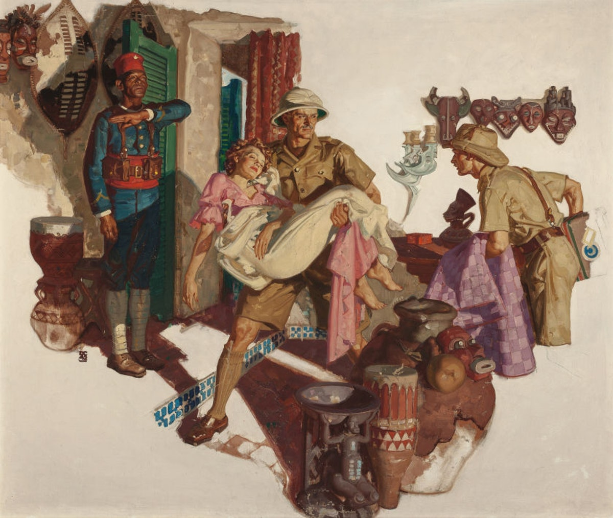 Dean Cornwell's A Hasty Exit