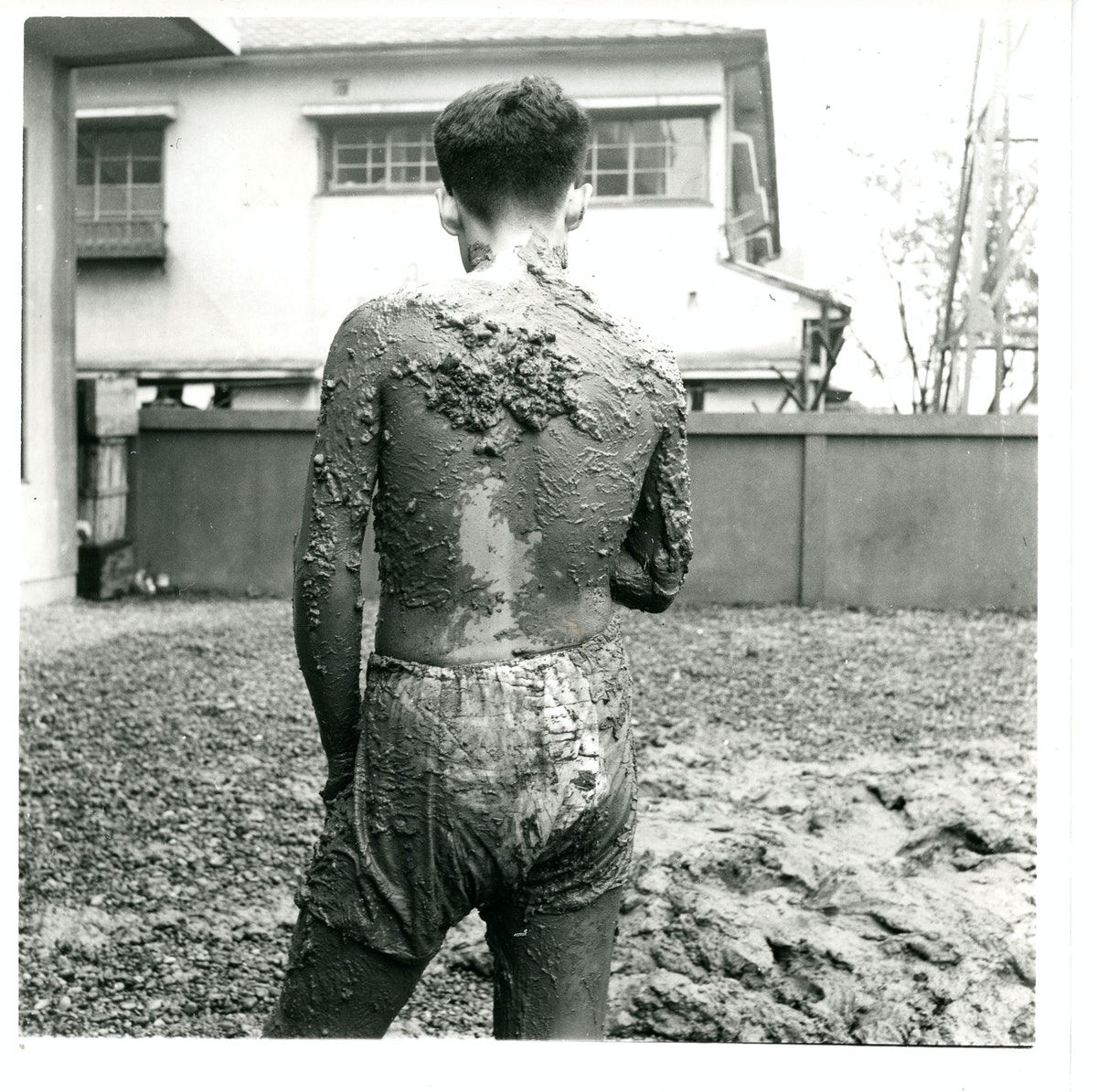 Kazuo Shiraga, Challenging Mud (third execution), 1955, 1st Gutai Art Exhibition
