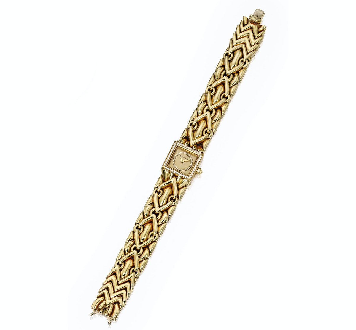 18 Karat Gold and Diamond 'Trika' Wristwatch, Bulgari