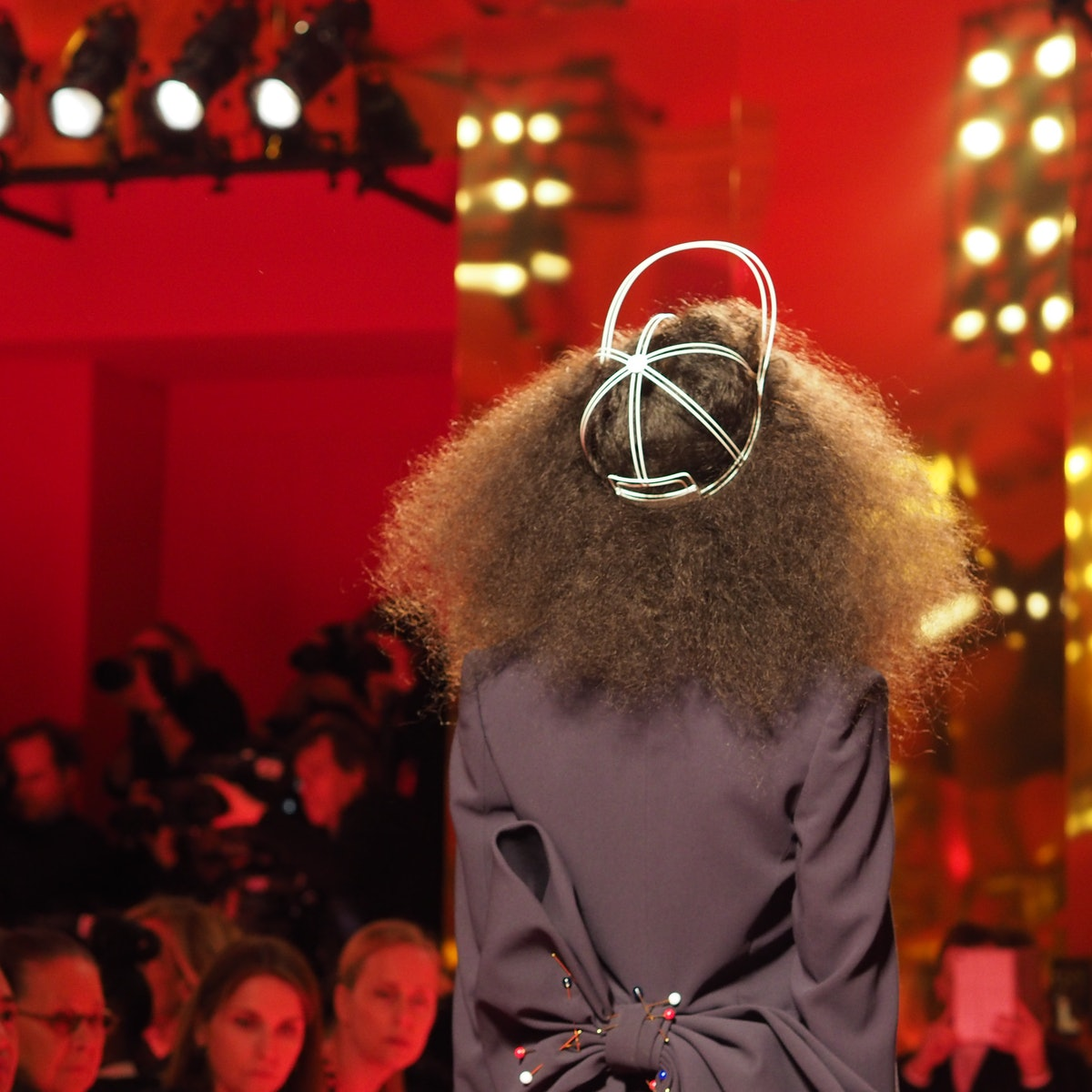 A hat at Schiaparelli Spring 2015 couture