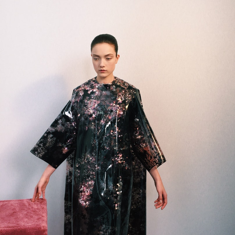 Backstage at the Dior Spring 2015 Couture show