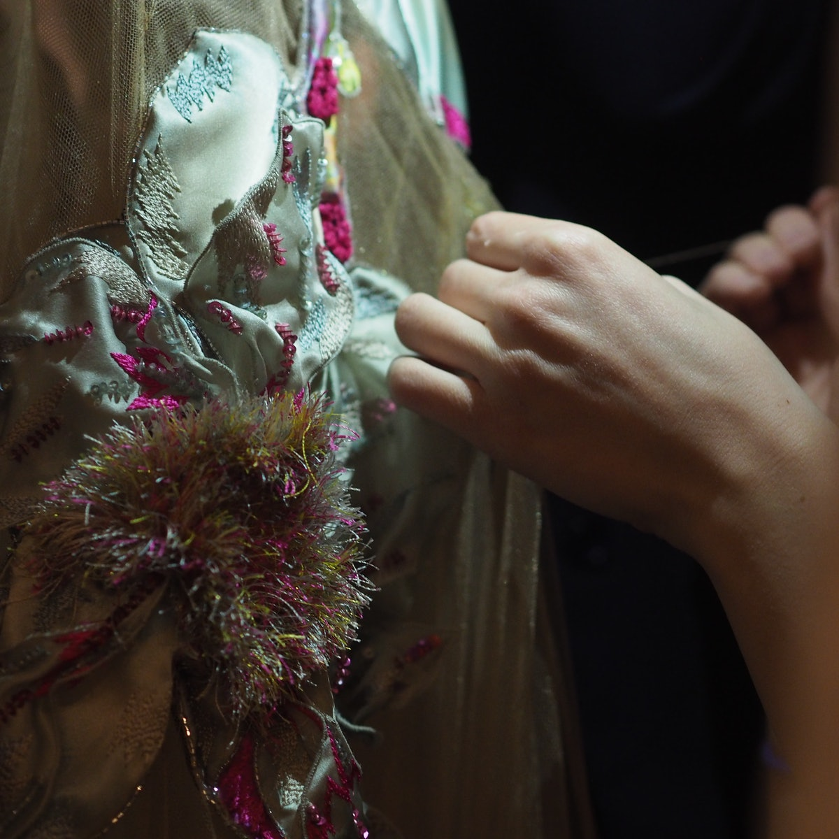 Backstage at the Spring 2015 couture shows