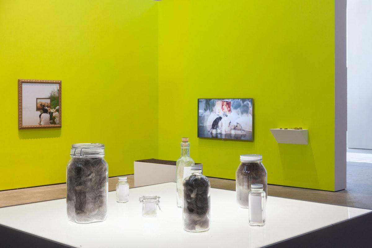 Installation view of Araya Rasdjarmrearnsook at the Sculpture Center