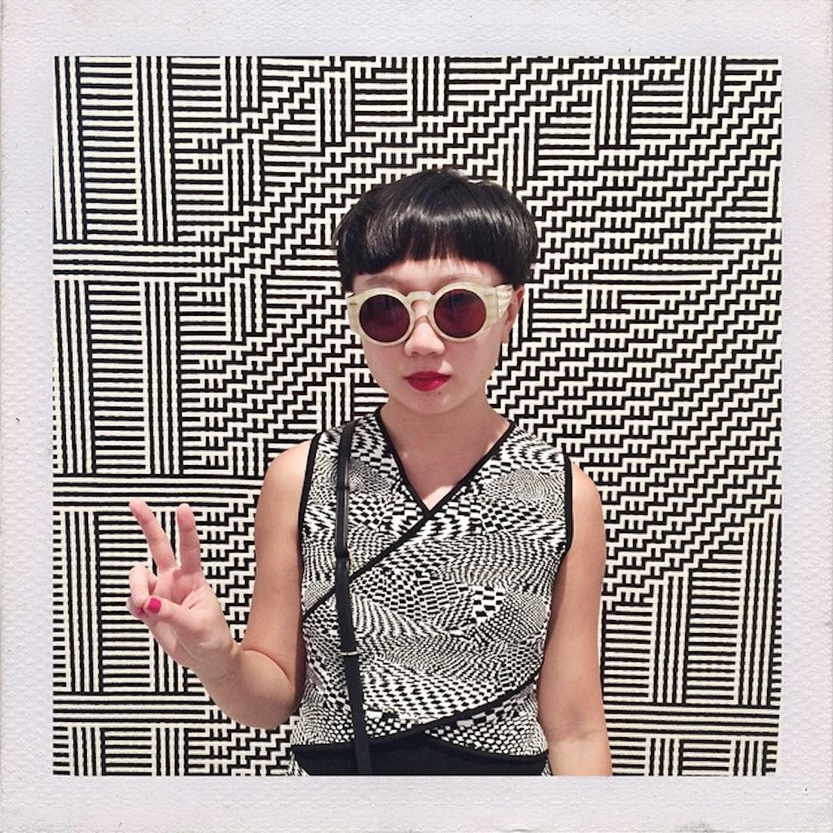With a Tauba Auerbach piece at the De la Cruz Collection in Miami
