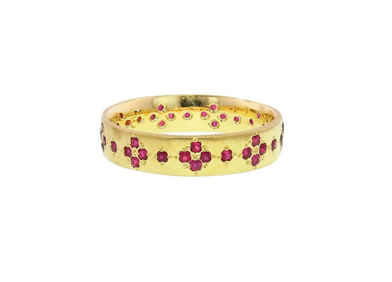 Adel Chefridi yellow gold and ruby ring