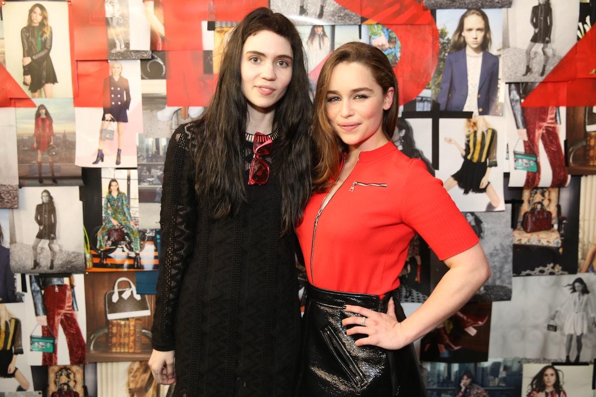 Grimes and Emilia Clark