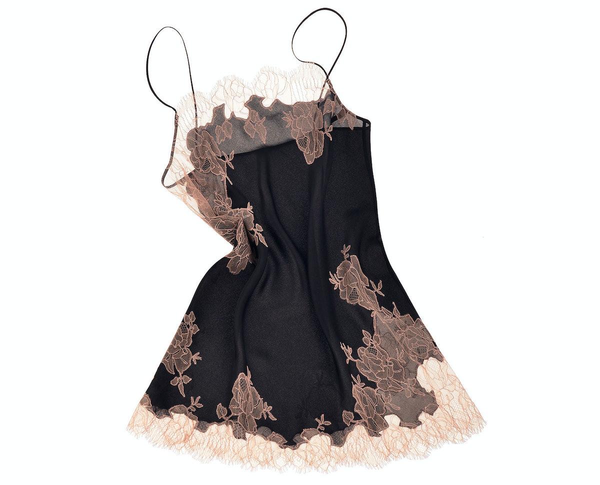 Carine Gilson silk satin and lace slip