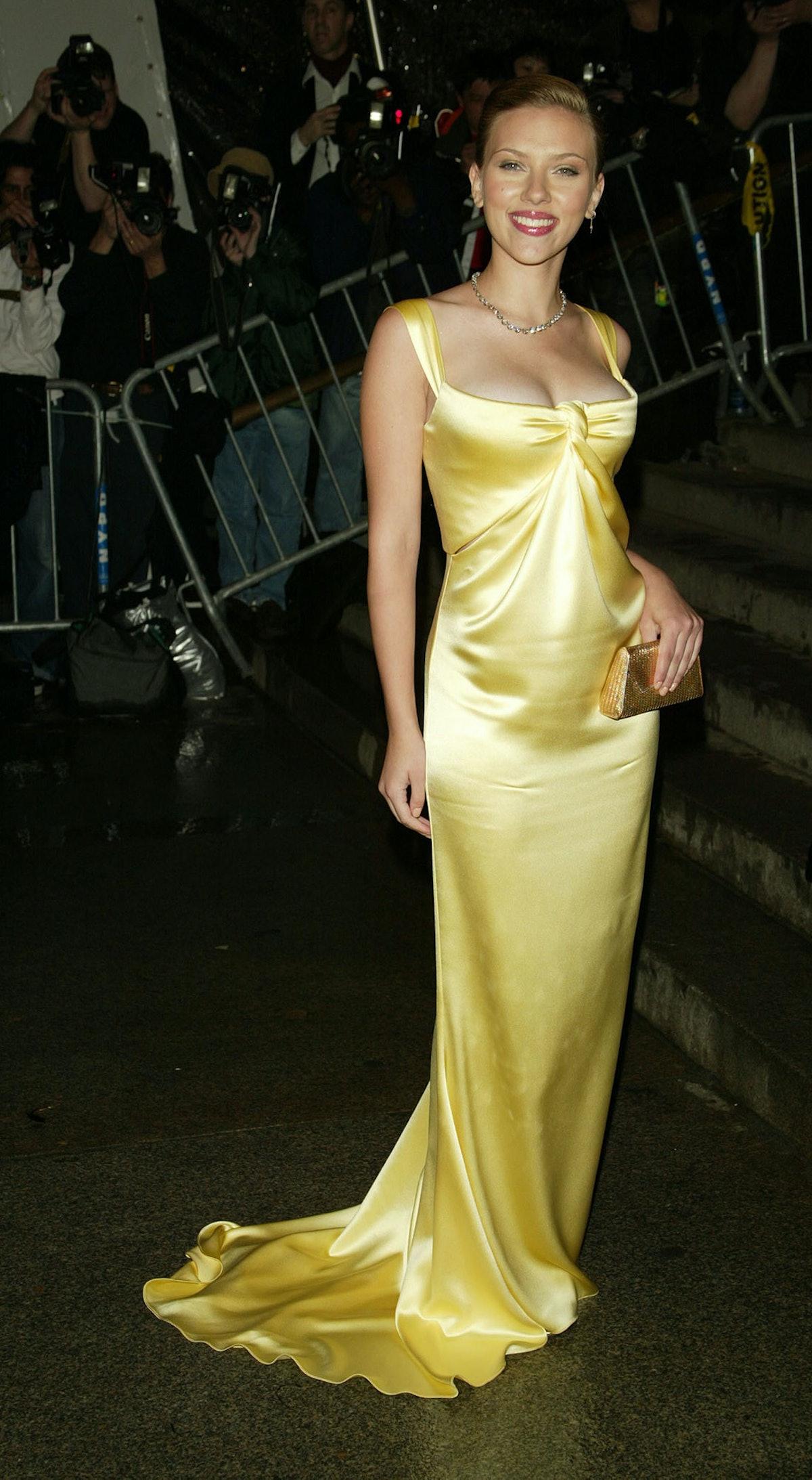 Scarlett Johansson in Calvin Klein at the 2004 Met Gala