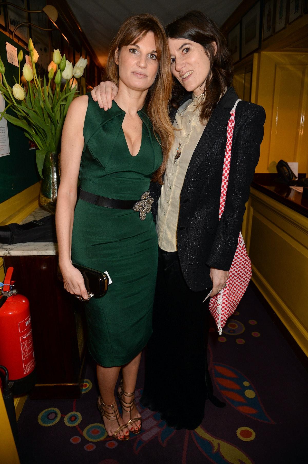 Jemima Goldsmith and Bella Freud