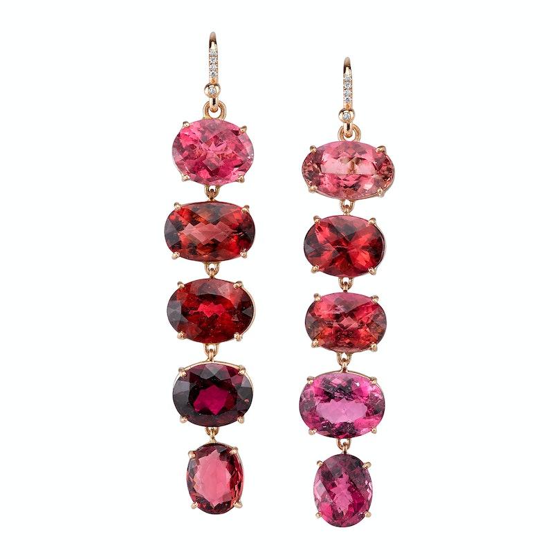 Irene Neuwirth 18k rose gold and pink tourmaline earrings