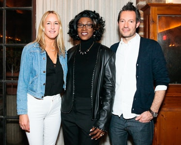 Lela Becker, Dr. Marjorie Hill, and Tim Kaeding celebrate Candice Swanepoel and MOTHER's collaborati...