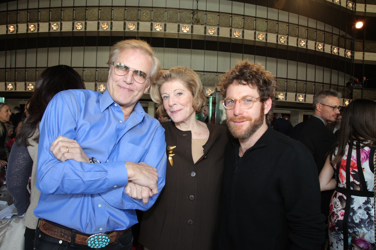 Peter Martins, Agnes Gund, and Dustin Yellin