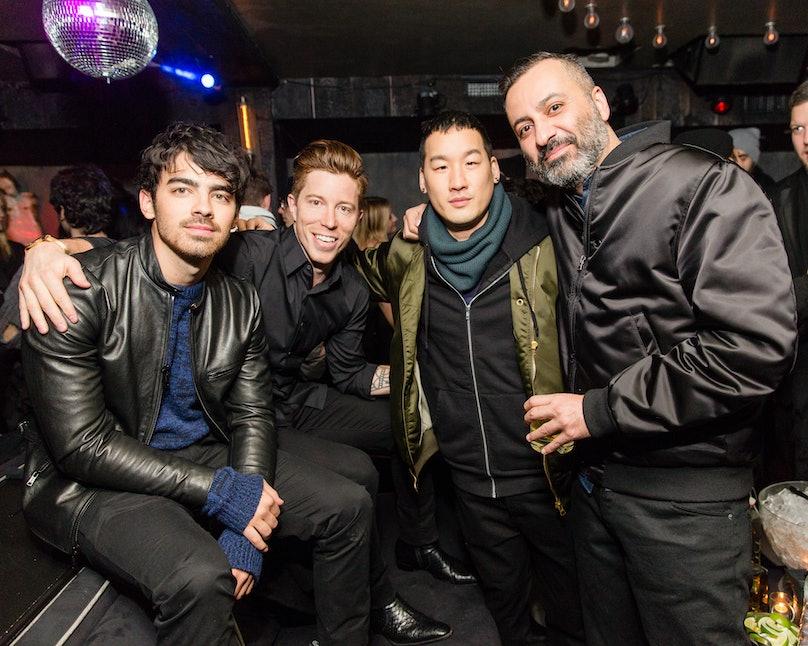 Joe Jonas, Shaun White, Richard Chai, and Mazdack Rassi