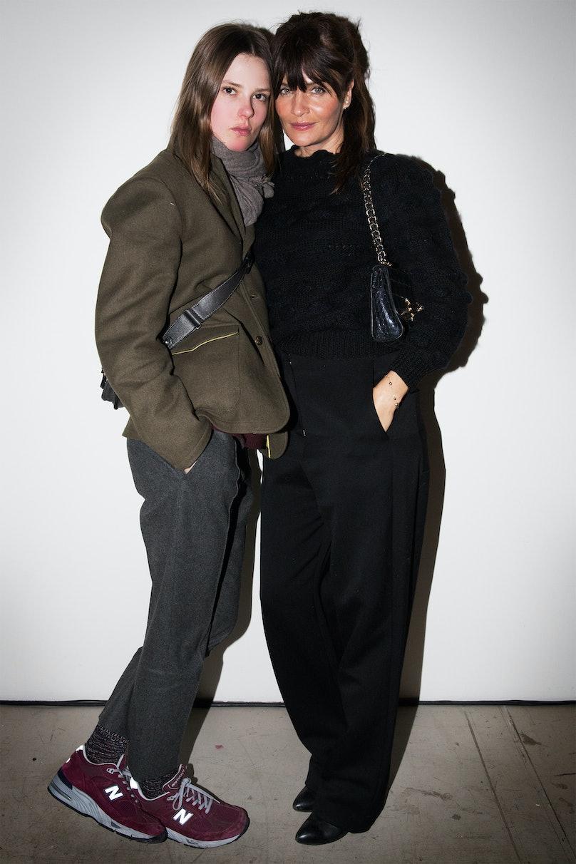 Caroline Brasch Nielsen and Helena Christensen