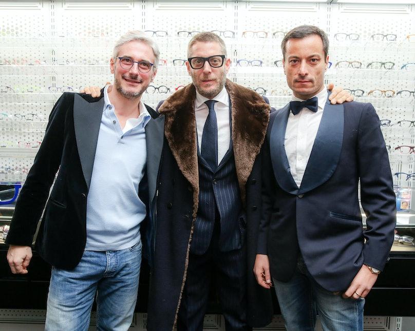 Lapo Elkann, Andrea Tessitore, and Giovanni Acconciagioco