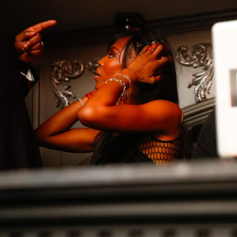 Naomi Campbell attends the Up & Down x Fashion Week party