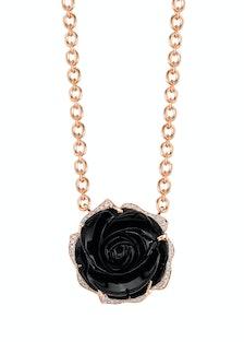 Irene Neuwirth gold, onyx, and diamond necklace