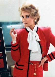 Jan Hooks as Nancy Reagan backstage, late 1980s