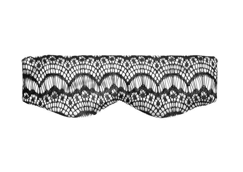 Mimi Holliday by Damaris Bisou Bisou Cookies and Cream stretch-silk satin and lace eye mask