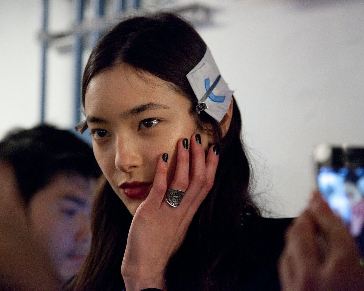Backstage at 3.1 Phillip Lim Fall 2015