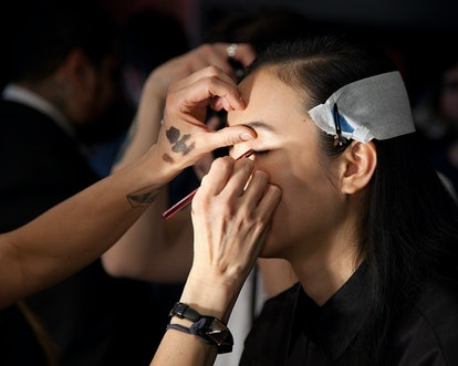 Narciso Rodrigeuz Fall 2015 makeup