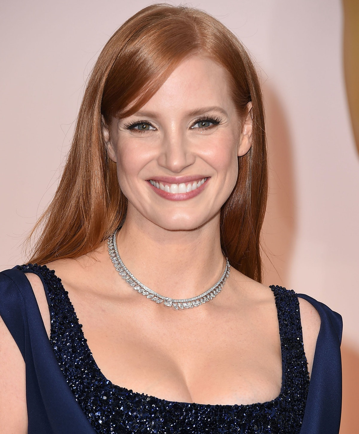 Jessica Chastain in a Piaget necklace