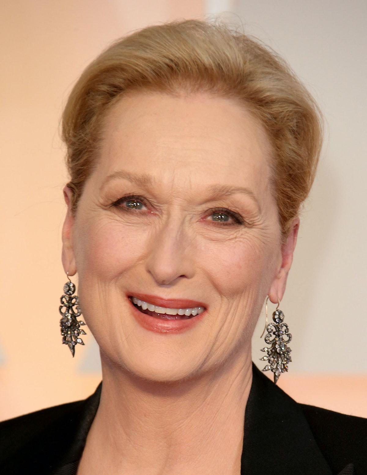 Meryl Streep in Fred Leighton earrings
