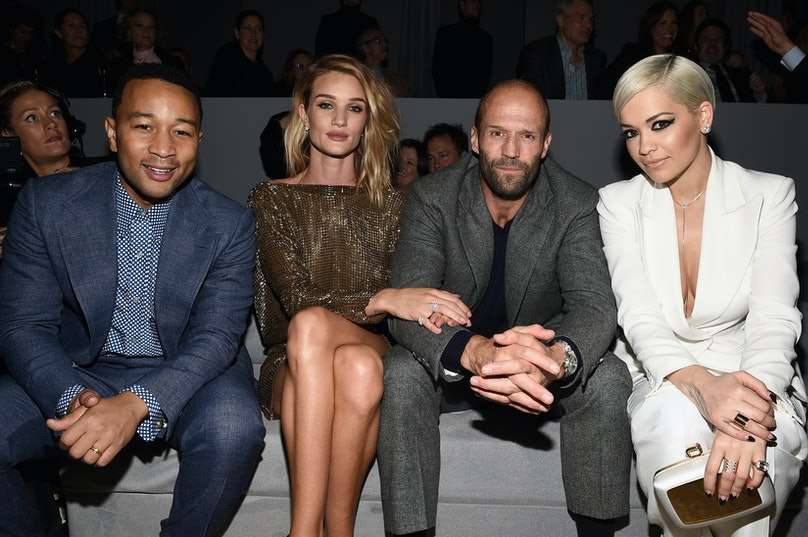 John Legend, Rosie Huntington-Whiteley, Jason Statham, and Rita Ora