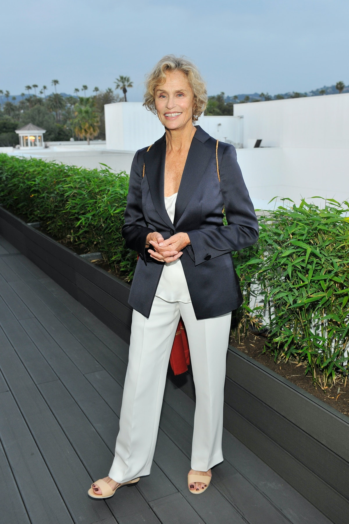 Lauren Hutton attends an intimate toast to the Oscars hosted by Roberta Armani and Cate Blanchett