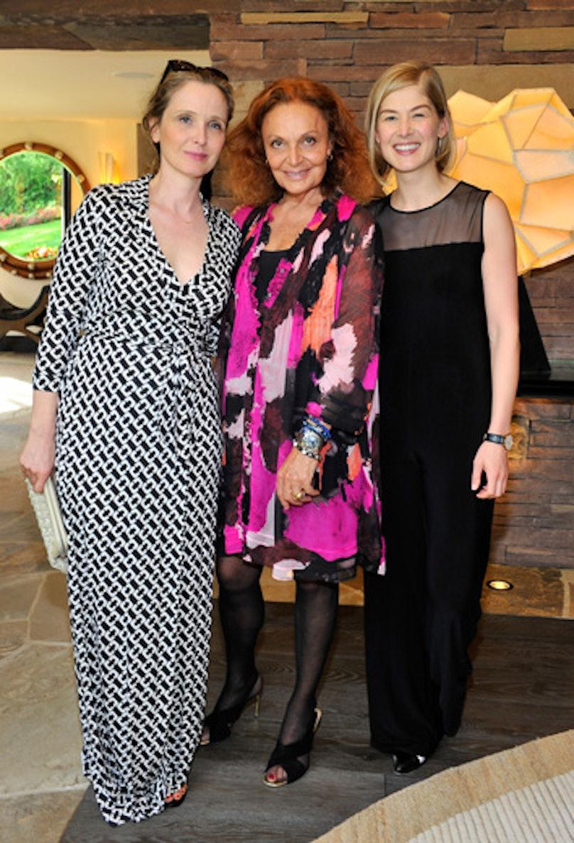 Julie Delpy, Diane von Furstenberg, and Rosamund Pike