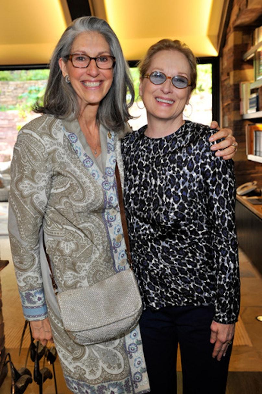 Deborah Nadoolman Landis and Meryl Streep