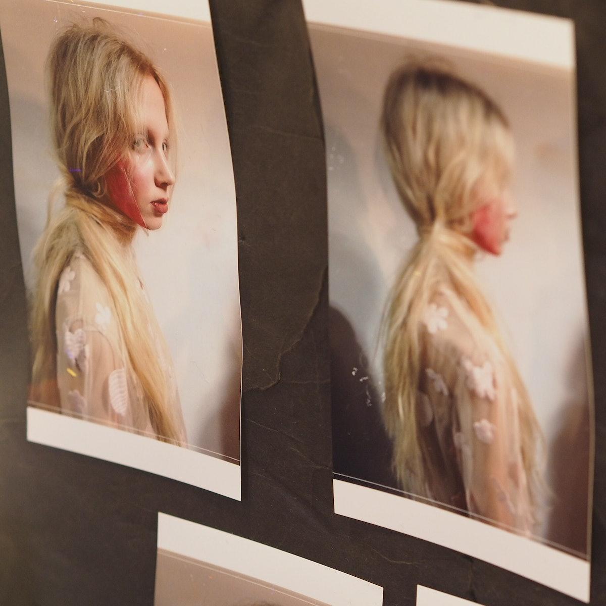 Backstage at Simone Rocha Fall 2015
