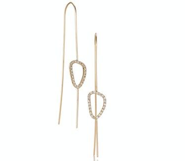 Sarah Chloe 14k yellow gold and diamond earrings