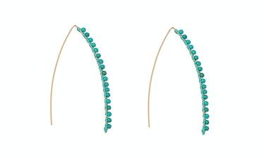 Aurelie Biederman 18k gold plate and turquoise earrings