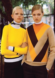 Lindsey Wixson and Daphne Groenveld