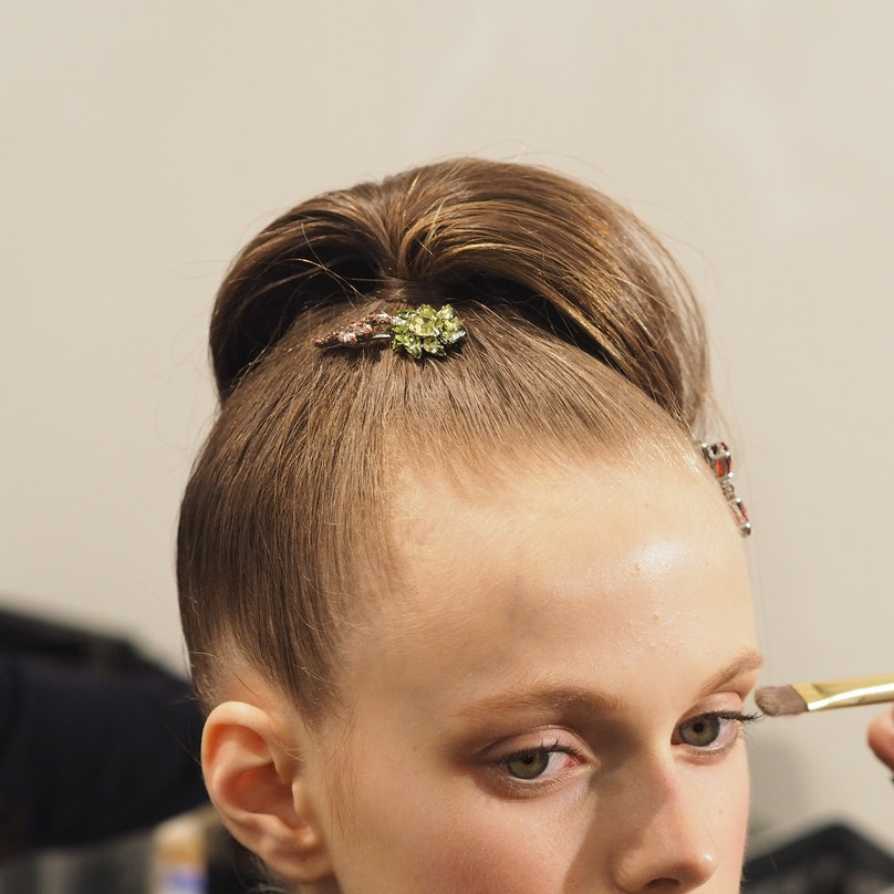 Backstage at Prada Fall 2015