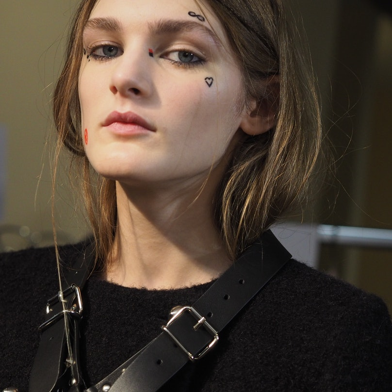 Backstage at Giamba Fall 2015