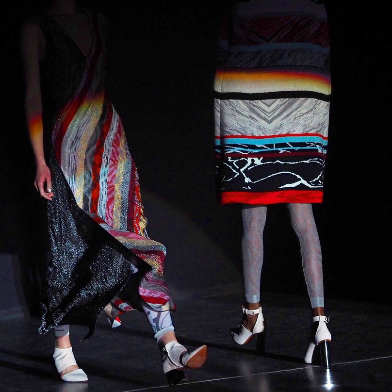 Backstage at Missoni Fall 2015